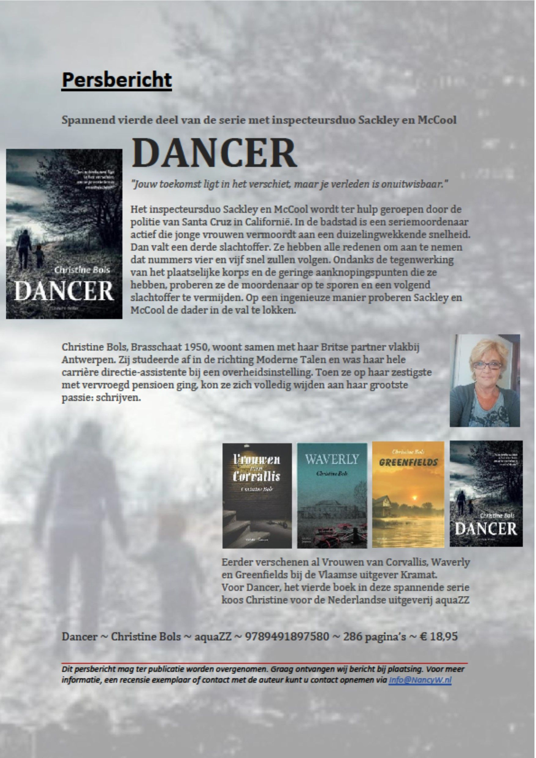 Persbericht Dancer  - Christine Bols